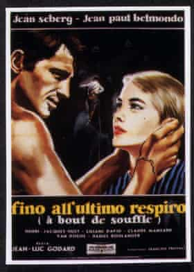 An Italian poster for Breathless (À Bout de Souffle, 1960).