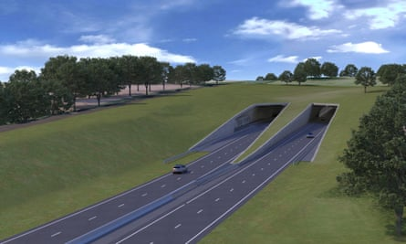 An impression of the proposed tunnel.