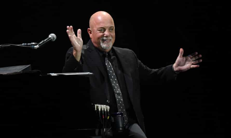 Immediately at home … Billy Joel at Wembley stadium.