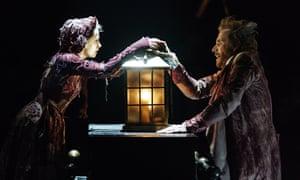 Terrific ensemble … Melissa Allan as Little Fan with Ifans as Scrooge.
