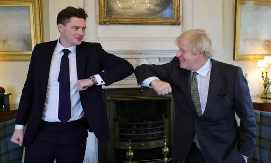 Alex George elbow bumps Boris Johnson at their meeting on 2 February
