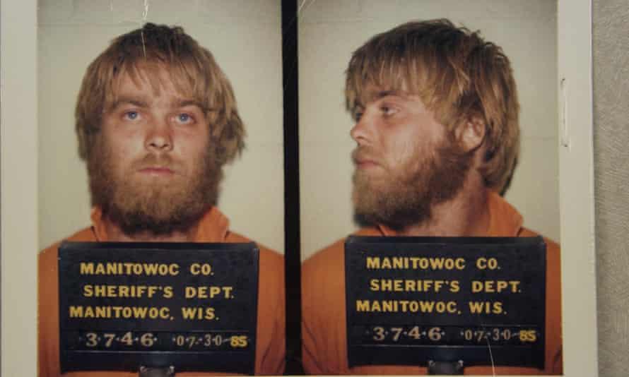 Captive audience: Steven Avery of Making of a Murderer in custody in July 1985.