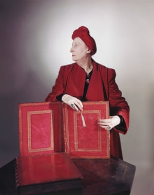 British poet Edith Sitwell in 1948