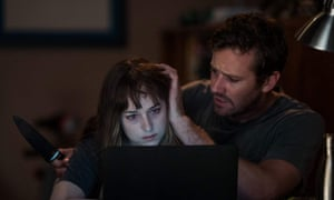 Controversial choice … Dakota Johnson and Armie Hammer in Wounds