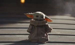 'Baby Yoda' from the Disney+ series The Mandalorian. The streaming service is booming in the UK and Europe.