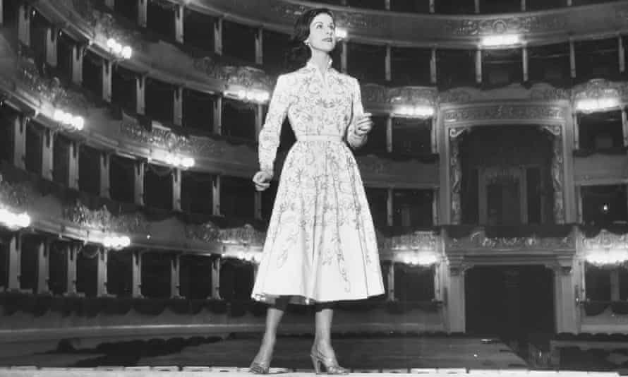 Violetta Elvin inspecting the stage at La Scala, Milan, in 1952.