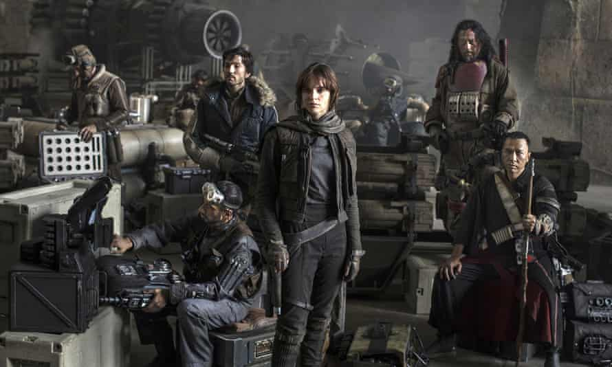 The cast of Star Wars: Rogue One featuring Riz Ahmed, Diego Luna, Felicity Jones, Jiang Wen and Donnie Yen.
