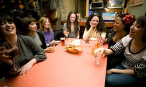 Tracie Egan, Maria-Mercedes Lara, Moe Tkacik, Jennifer Gerson, Anna Holmes, Dodai Stewart and Jessica Grose of Jezebel in April 2008.