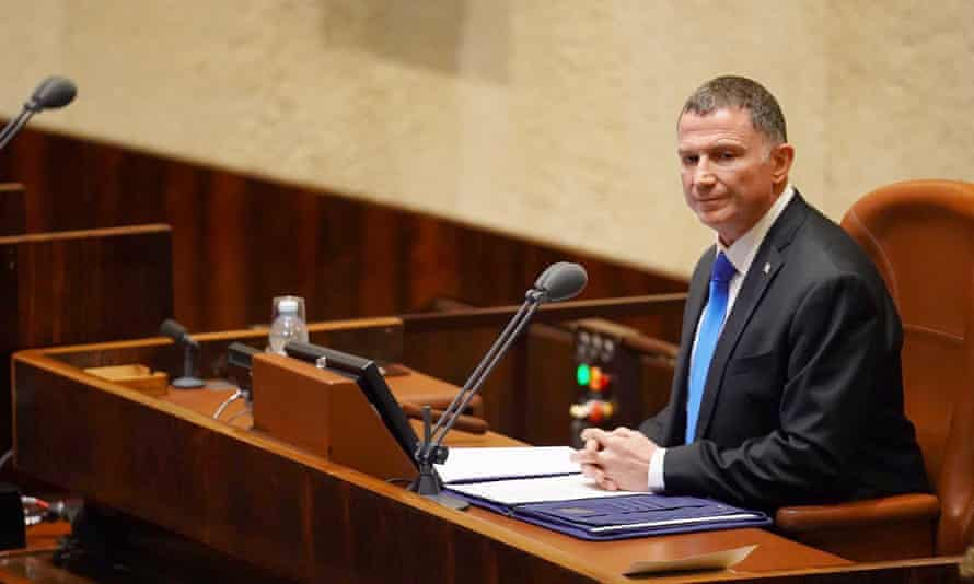 Yuli Edelstein during a session of the Israeli Knesset