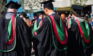 Graduates at Aberystwyth University, 2019.