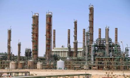 An oil refinery in Ras Lanuf, northern Libya