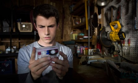 The nerdy kid with a jaw of stone … Clay (Dylan Minnette) must unravel then avenge the mystery of Hannah's death.