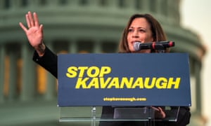 Kamala Harris at a Stop Kavanaugh rally before last week's cloture vote.