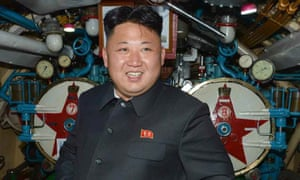 Kim Jong-un inside a submarine on the east coast of North Korea, published in 2014.