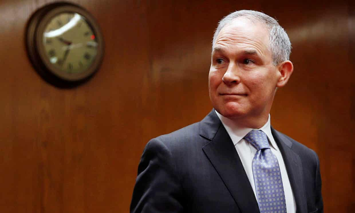 Scott Pruitt on Capitol Hill in May.