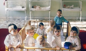 Romanian Orphans<br>Romania, children in an orphanage in Bucarest.