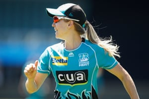 Jemma Barsby, an all-rounder who can bowl with both hands, playing for the Heat in the Women's Big Bash League in Australia.