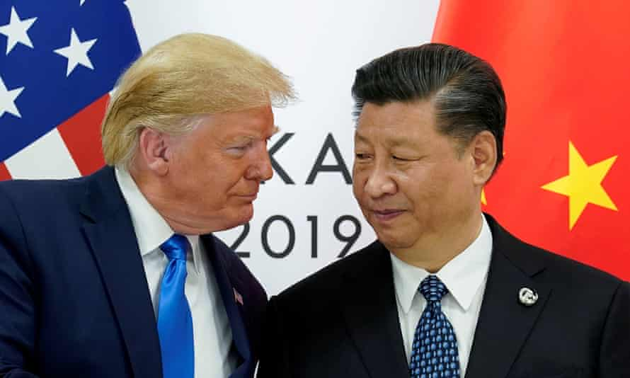 Donald Trump meets with China's president, Xi Jinping, at the start of their bilateral meeting at the G20 leaders summit in Osaka, Japan, last year.