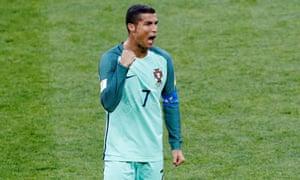 Portugal's Cristiano Ronaldo celebrates after the final whistle.