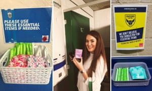 Free sanitary products at football grounds, part of a campaign by On The Ball.