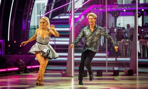 Saffron and AJ on Strictly