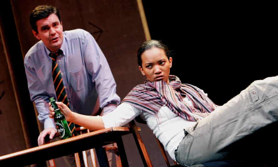 Alexander Hanson and Chipo Chung in Talking to Terrorists at Oxford Playhouse, 2005.