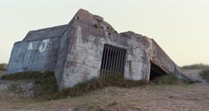 The remains of a German defence bunker on 'Juno Beach', Courseulles-sur-Mer, on the Normandy coast, France.