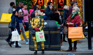 Shoppers on Oxford Street on the last Saturday before Christmas 2018.