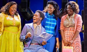 Dreamgirls … Amber Riley, Tyrone Huntley, Liisi LaFontaine and Ibinabo Jack.