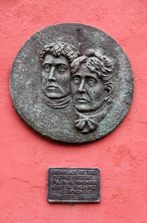 Plaque to the Clerke Sisters in Skibbereen, County Cork, Ireland.