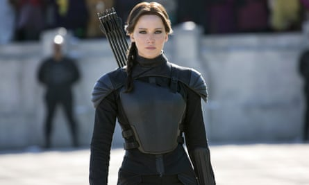 Jennifer Lawrence in The Hunger Games: Mockingjay Part 2.