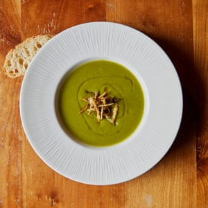 Leek and potato soup at the Kensington Arms: 'velvety, fragrant and balm-like'.