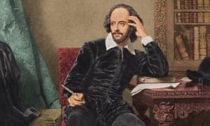 portrait of Shakespeare c 1600