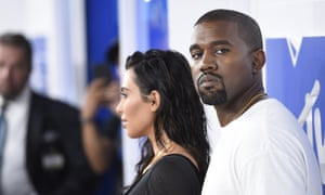 West pictured with wife Kim Kardashian West, who was nominated for – and lost – the best celebrity category