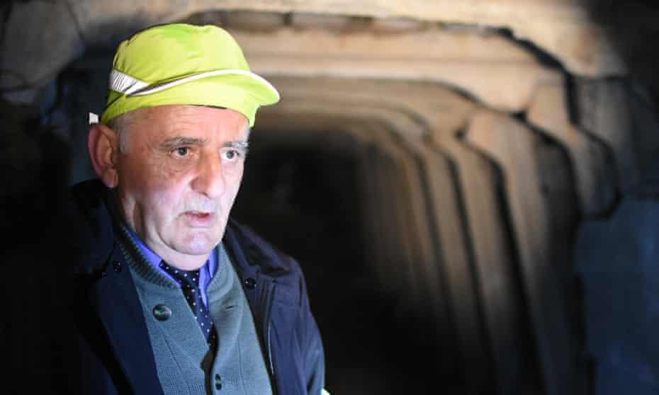 Feti Gjici in one of the tunnels
