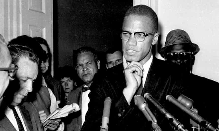 Malcolm X speaking to reporters in Washington DC on 16 May 1963.