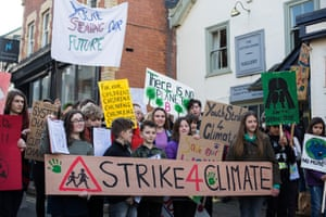 School climate strike in Hay-on-Wye in February.