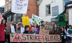 Youth climate strike in Hay-On-Wye
