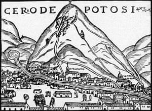 'The mountain that eats men': Potosí depicted in 1553.