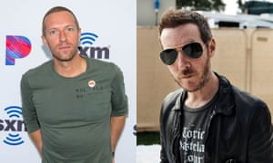 Chris Martin from Coldplay and Robert del Naja, aka 3D, of Massive Attack.