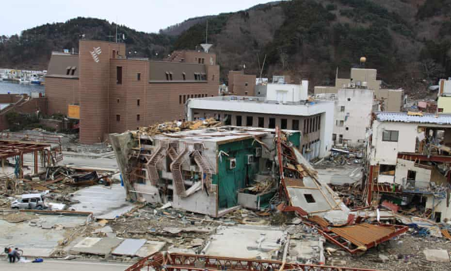 Onagawa town centre after it was obliterated by the 2011 tsunami.