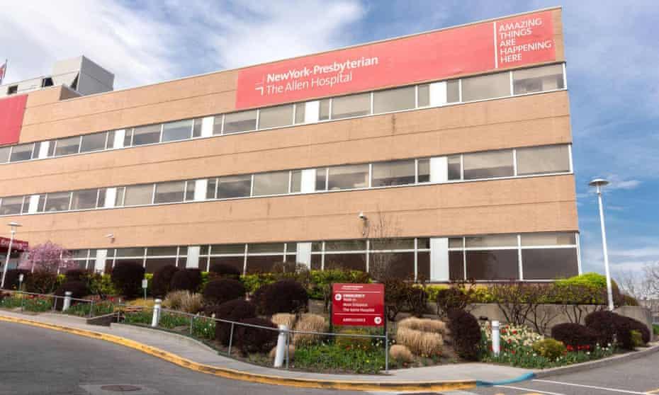 New York-Presbyterian Allen hospital, where Dr Lorna Breen worked.