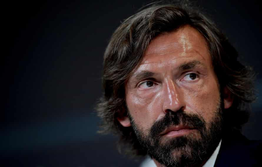 Andrea Pirlo at the press conference when he was named Juventus Under-23s coach