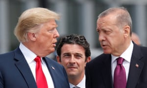 Donald Trump and President Erdoğan of Turkey