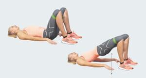 Zanna van Dijk demonstrating exercises with weights