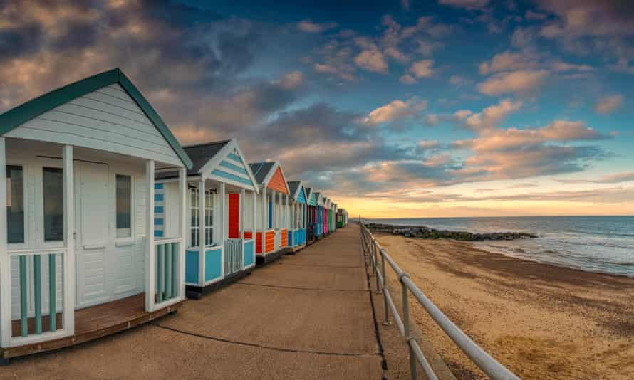 Beach huts and light sky at Southwold