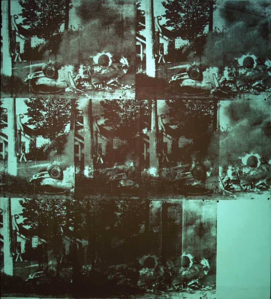 Green Car Crash by Andy Warhol
