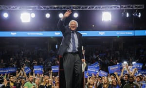Independent Senator Bernie Sanders announces 2020 presidential bid<br>epa07381004 (FILE) - US Democratic presidential candidate and Vermont Senator Bernie Sanders waves during a campaign rally at the Bon Secours Wellness Arena in Greenville, South Carolina, USA, 21 February 2016 (reissued 19 February 2019). Senator Bernie Sanders, from a public radio on 19 February 2019, said that he is seeking the 2020 Democratic Party's presidential nomination. EPA/ERIK S. LESSER