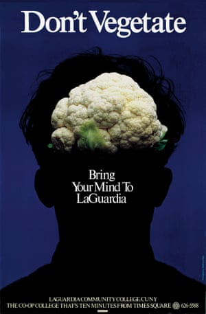 Don't Vegetate: Bring Your Mind to LaGuardia poster by Milton Glaser