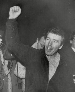 Jimmy Boyle on release from prison in 1982.